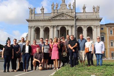 Præsterne i Grene Provsti på studietur i Rom i 2019